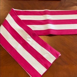 Burberry Authentic Pink White Scarf Italy cotton